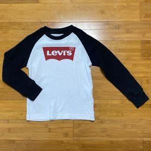 Levi's thermal long sleeve t-shirt white 6 M